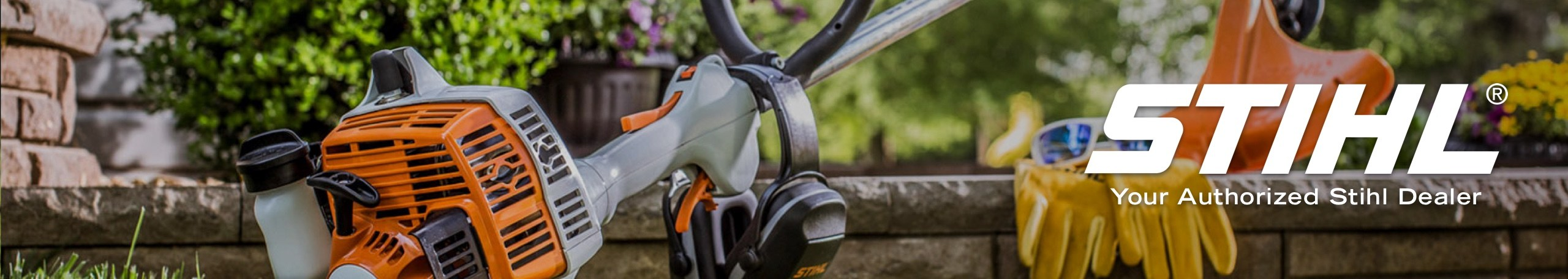 Stihl logo with leaf blower with Your Authorized Stihl Dealer