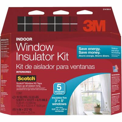 3M Indoor 62 In. x 210 In. Window Insulation Kit, (5-Pack)