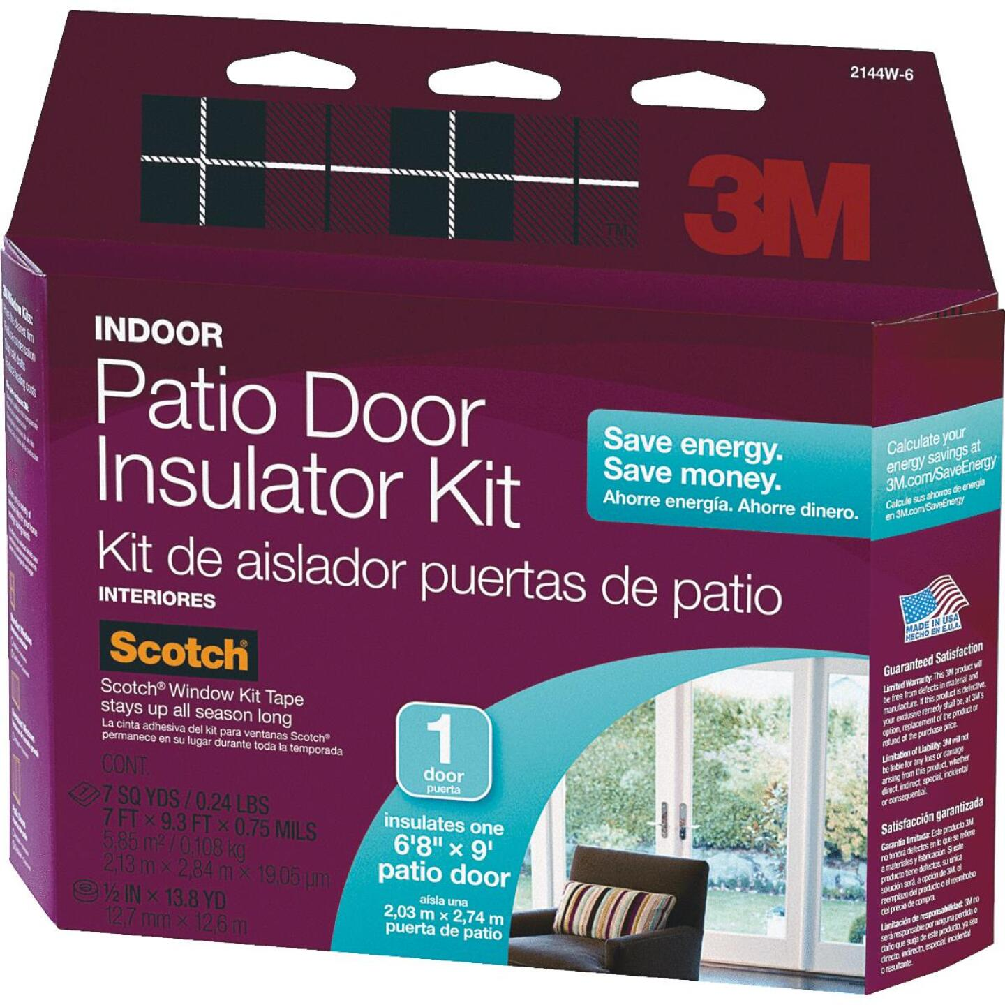 3M Indoor 84 In. x 112 In. Patio Door Insulation Kit Image 1