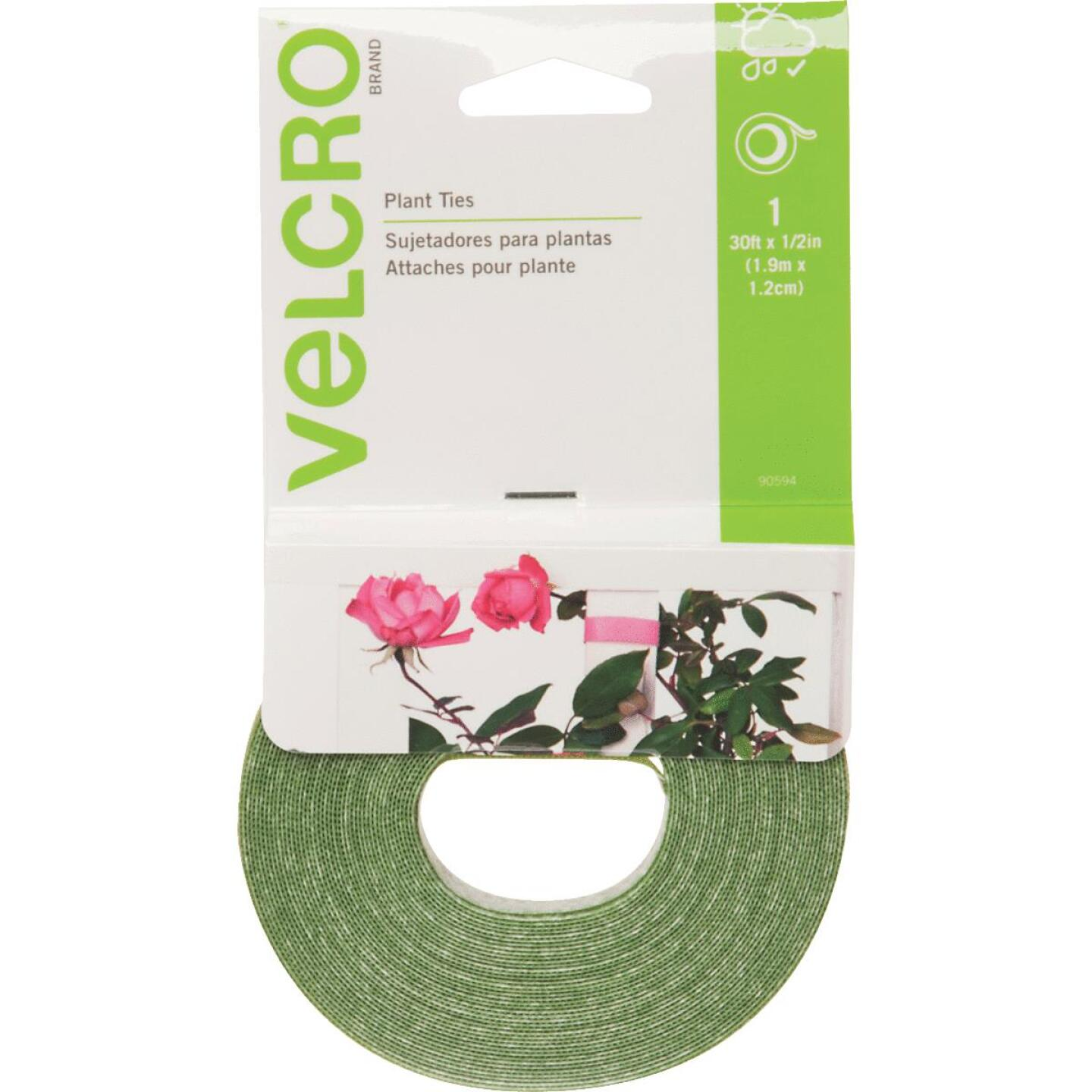 VELCRO Brand Green 30 Ft. Hook and Loop Plant Tie Image 1