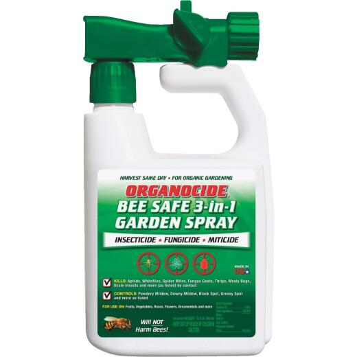 Organocide 32 Oz. Ready To Spray Hose End Organic Bee Safe 3-In-1 Garden Insect Killer
